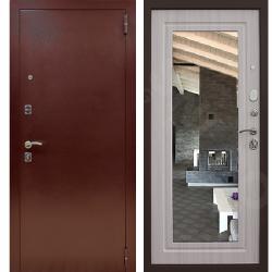 Входная дверь - Снедо Патриот Зеркало Лиственница Беленая