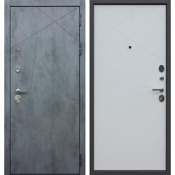 Входная дверь - РЕКС «Дуэт Б» силк сноу