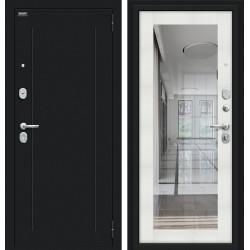 Входная дверь -  Флэш 119.Б15 Букле черное/Bianco Veralinga
