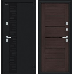 Дверь с терморазрывом Thermo Техно Декор Букле черное/Wenge Veralinga
