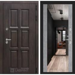 Входная дверь Лабиринт Лондон с зеркалом максимум Бетон светлый