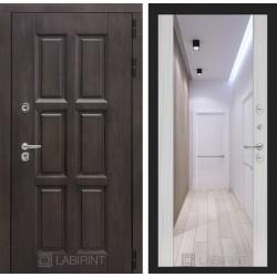 Входная дверь Лабиринт Лондон с зеркалом максимум Сандал белый