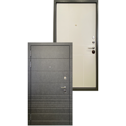Входная стальная металлическая дверь - Ратибор Мегаполис 3К Силк сноу