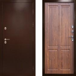 Входная металлическая дверь с терморазрывом Сибирь термо орех