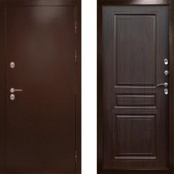 Входная металлическая дверь с терморазрывом Сибирь термо венге