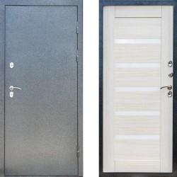 Входная металлическая дверь с терморазрывом Сибирь термо серебро царга