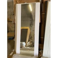 Входная дверь -  Сибирь термо серебро графит зеркало белое (TD)