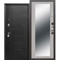Входная дверь - 10 см Троя Серебро МАКСИ зеркало Белый ясень