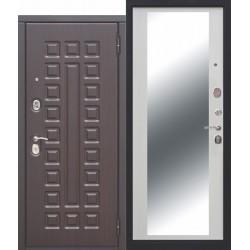 Входная дверь - 10 см МОНАРХ Зеркало Белый ясень