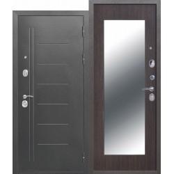 Входная дверь - 10 см Троя Серебро МАКСИ зеркало Венге