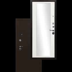 Входная дверь - Ратибор Троя 3К Зеркало Белый матовый