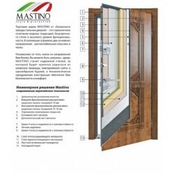 Входная дверь - Mastino Terra (Area) Черный шелк/ Шамбори Светлый SECUREMME 88